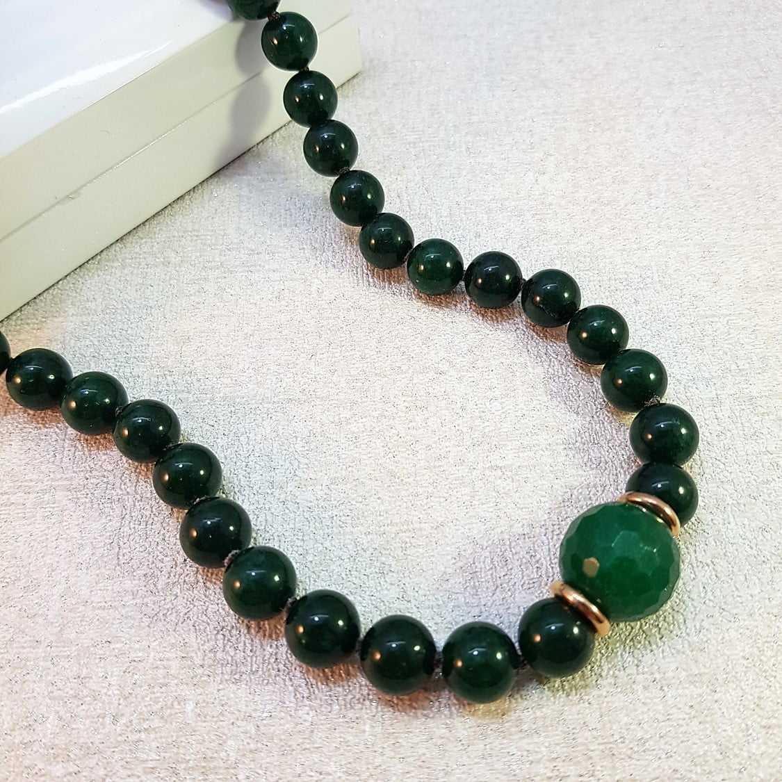colar pedras naturais - quartzo verde