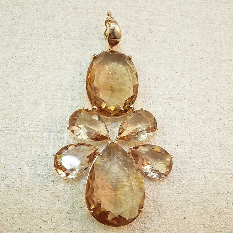 pingente pedras- GOLDEN SHADES