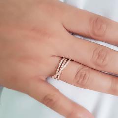 anel zircônia white 30