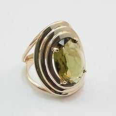 anel cristal  oval 12x16mm com borda de elos em metal - cores variadas
