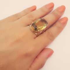 anel  cristal  cor TOPÁZIO AMARELO - modelos variados