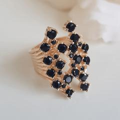 Anel cristais preto ônix- modelo Anne Marie cor 3