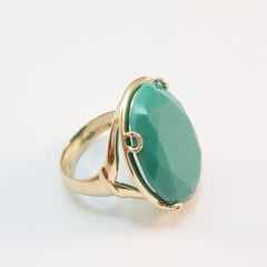 anel pedra cor turquesa - modelos variados