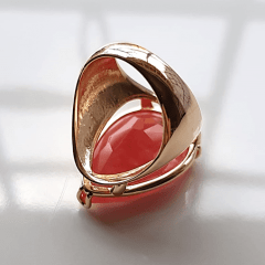 Anel cristal cherry formato gota 20x25mm - modelo Energy