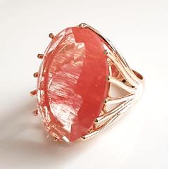 Anel cristal cherry oval 25x18mm modelo Melissa