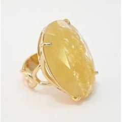 anel pedra cristal COR RUTILO - modelos variados