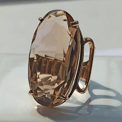Anel cristal champanhe oval 15x29mm - numeração pequena