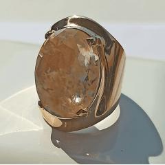 Anel cristal rutilo oval - numeração pequena