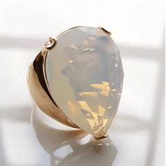 Anel cristal lua formato gota 25x18mm - modelo Energy