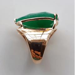 Anel cristal verde esmeralda formato gota 20x25mm - modelo Energy