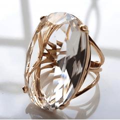 1-Anel cristal white - 30 x 20mm-  Modelo Dominique