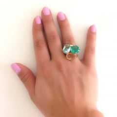 Anel de cristais multicolor  3