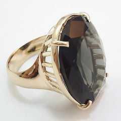 anel cristal cor fumê - modelos variados