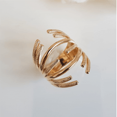 Anel dourado aros abertos