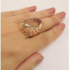 anel cristal honey oval