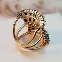 anel zircônias black