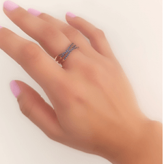 anel zircônia safira 5