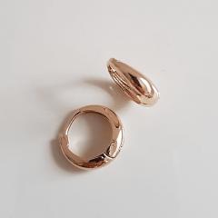 Brinco argola dourada 15x4,5mm