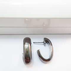 brinco de argola ródio negro (BRN)