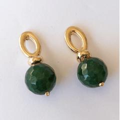 Brinco de bola quartzo verde