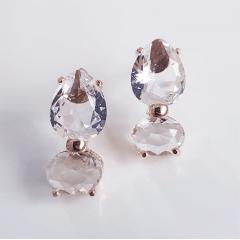 Brinco charm de cristais white