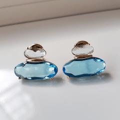 1-Brinco de cristais azul quamarine