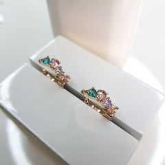 Piercing fake com cristais coloridos - o par