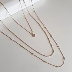 Kit - Trio de colares delicados com pingente ponto de luz
