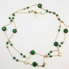 colar longo amar. - cor verde esmeralda 3