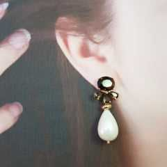 CONJUNTO de pérola shell : colar + brincos
