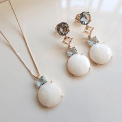 Conjunto colar e brinco - Modelo Malabaris 1