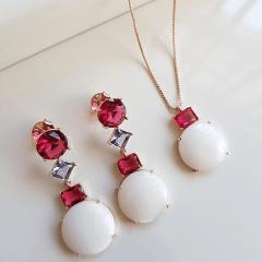 Conjunto colar e brinco - Modelo Malabaris 5