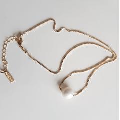 Conjunto Bella - pérolas com zircônias - colar e brinco
