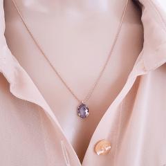 Conjunto colar e brinco de cristal - 6