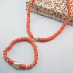1-Conjunto colar e pulseira de cristais