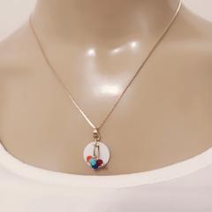 Conjunto colorido colar + brinco