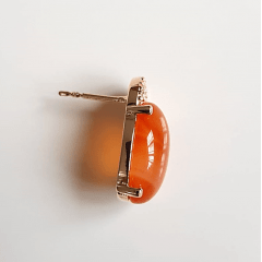 Conjunto Daily - pedra ágata - colar curto e brinco botão
