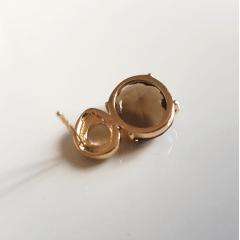 conjunto pulseira e brinco cristal fumê - 3