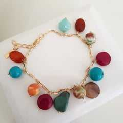 Conjunto pedras naturais colorido
