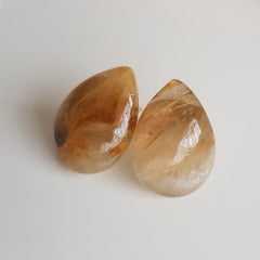 Conjunto pedras naturais e pérolas de água doce - colar e brinco