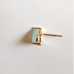 Conjunto Ponto de Luz- cristal azul leitoso e zircônias -  colar e brinco