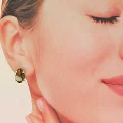 Conjunto Sinfonia - anel e brinco de cristais verde Oliva