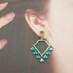 brinco de cristais - geométrico
