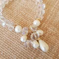 Pulseira cristais - white